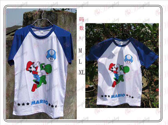 Super Mario Bros Accessories blue T-shirt
