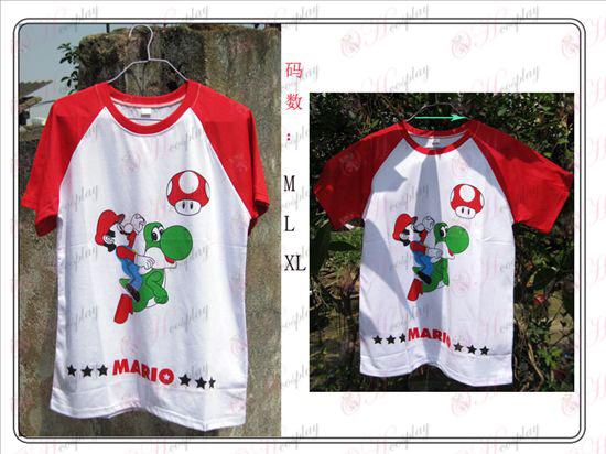 Super Mario Bros Аксесоари червено тениска