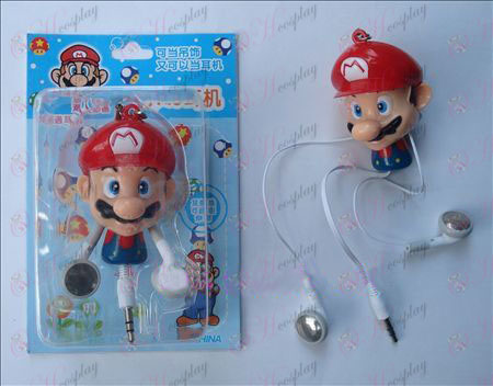 Super Mario Bros Accesorios retráctil MP3 Auriculares