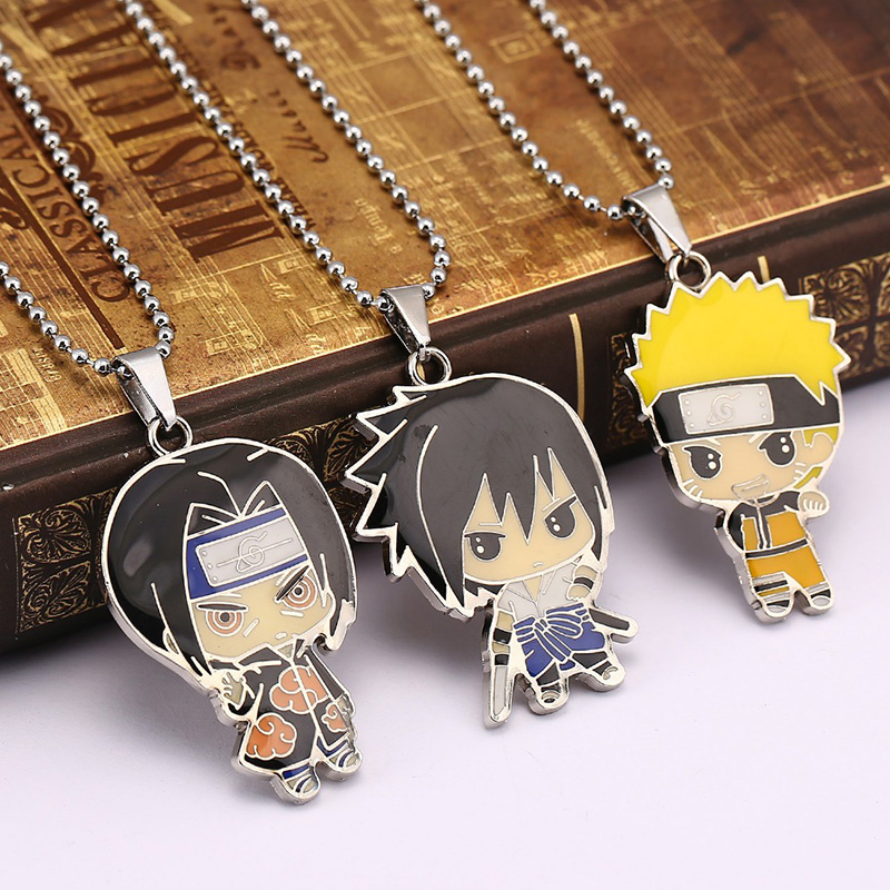 Naruto - Sasuke farbigen vier Anhänger Telefon-Kette