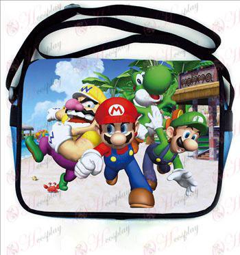 Super Mario Bros Tilbehør farvet læder skoletaske 542