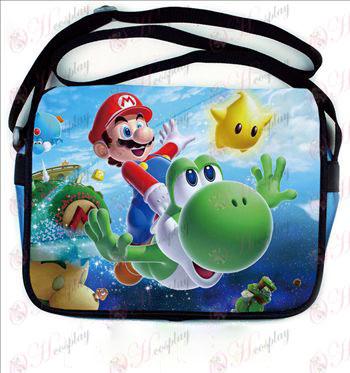 Super Mario Bros Tilbehør farvet læder skoletaske 541