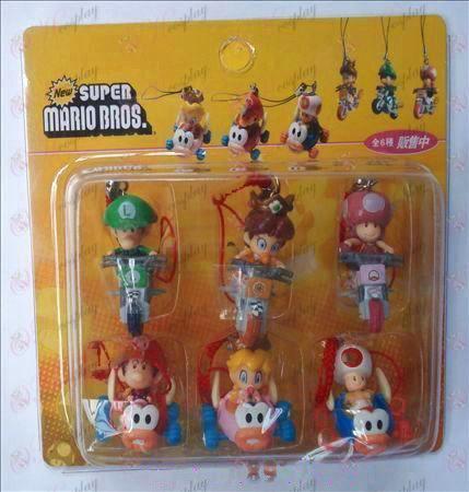 Ægte 6 Super Mario Bros Tilbehør Rem