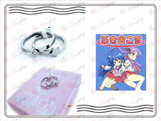 Lucky Star Accessories stainless steel couple rings (with diamond)