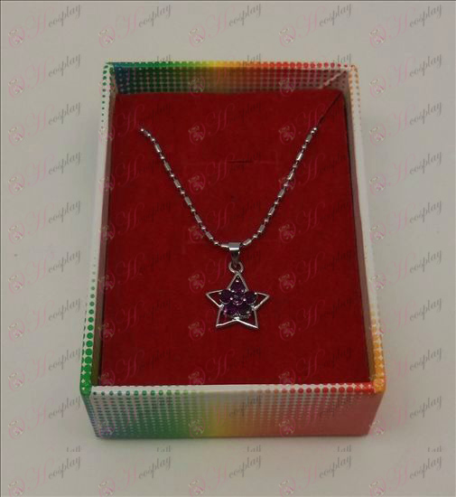 Lucky Star Tilbehør Diamond Necklace (Purple)