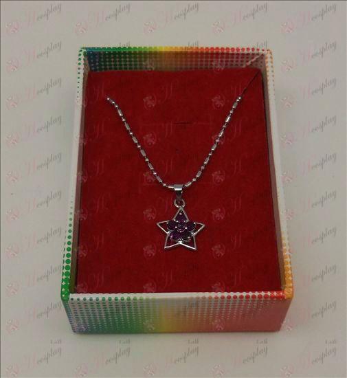 אבזרים לאקי סטאר שרשרת יהלומים (סגול)