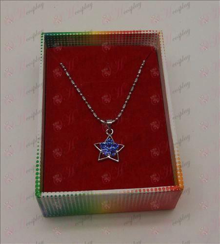 Lucky Star tilbehør diamant halskæde (Light Blue)