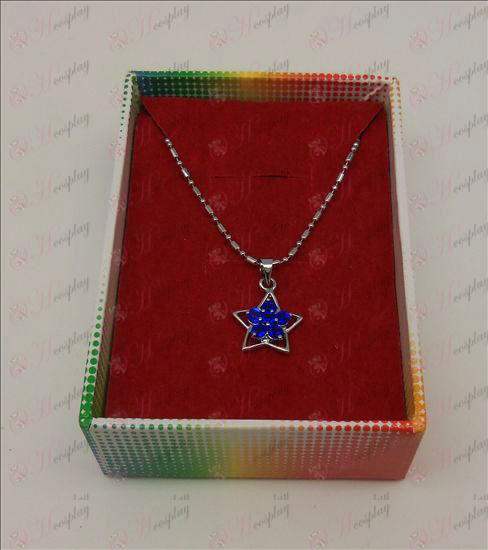 Lucky Star accessori collana di diamanti (Blu)