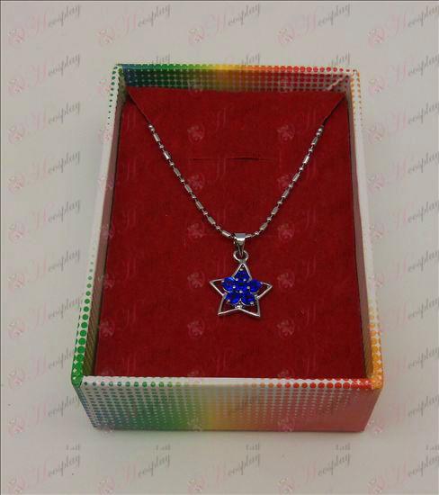 אבזרים לאקי סטאר שרשרת יהלומים (הכחול)