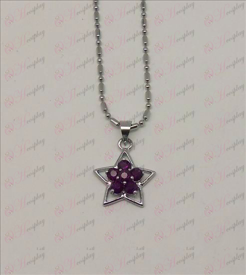 Blister Lucky Star Accesorios Diamond Necklace (púrpura)