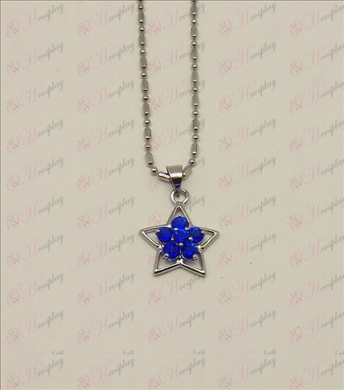 Blister Lucky Star accessori collana di diamanti (Blu)