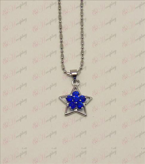 Blister Lucky Star tilbehør diamant halskæde (blå)