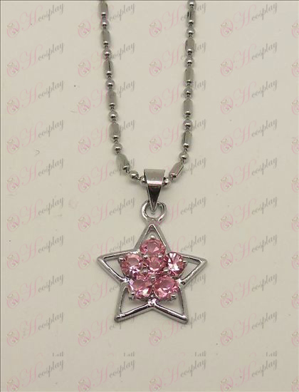 Blister Lucky Star accessoires diamanten halsketting (Pink)