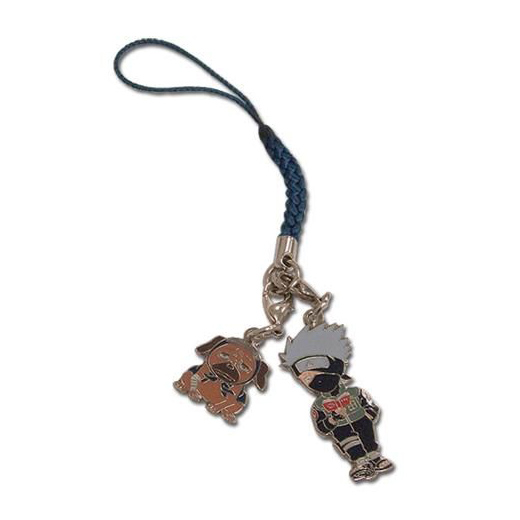 Naruto - kakashi colored four pendant phone chain
