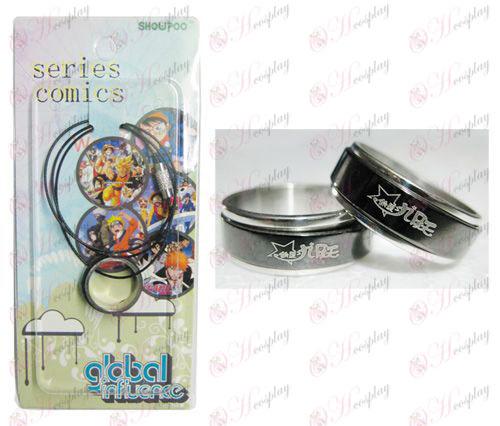 Star кражба Girl Accessories черна стомана Ring транспортни Колие - Rope