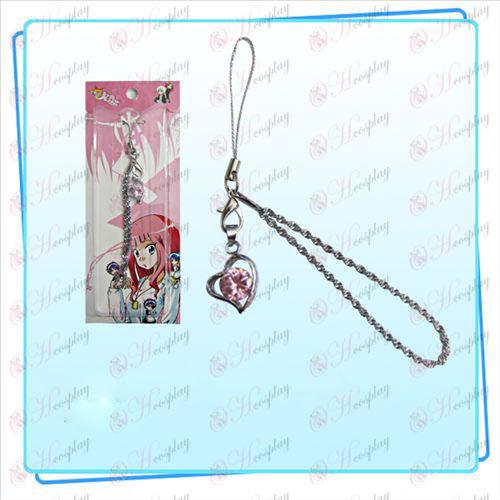 כוכב גניבה-אבזרים נערה עם רצועת יהלום בצורת לב תלת ממדים