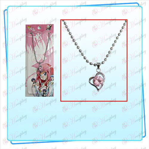 Star-Stealing Girl Accessories with three-dimensional heart-shaped diamond necklace