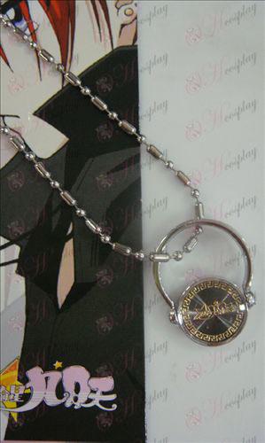 Black Steel Necklace Golden stjerne-Stjæle Girl Tilbehør
