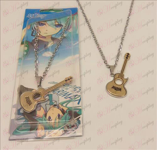 D light tone guitar necklace (gold)
