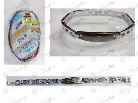 Naruto неръждаема стомана гривна с диаманти