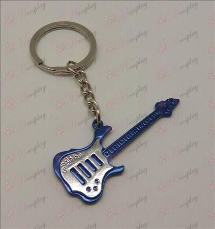Guitarra Tone luz Keychain (azul)
