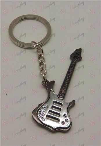 Blister leve tom de guitarra Keychain (Black)