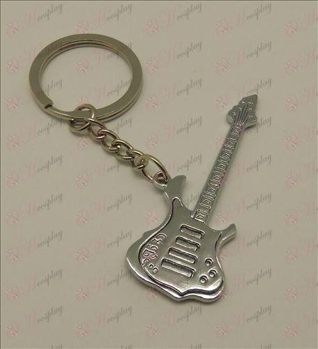 שלפוחית אור צליל גיטרה מחזיק מפתחות (לבן)