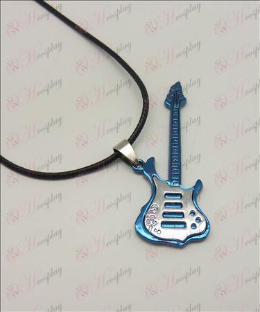 Blister светлина тон китара колие кожа кабел (син)