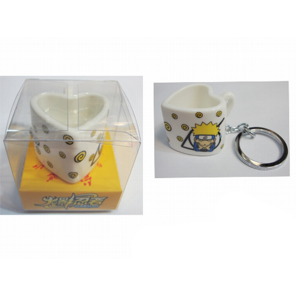 Naruto heart-shaped ceramic cup keychain