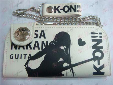 K-On! ארנק גדול אבזרים (לבן)