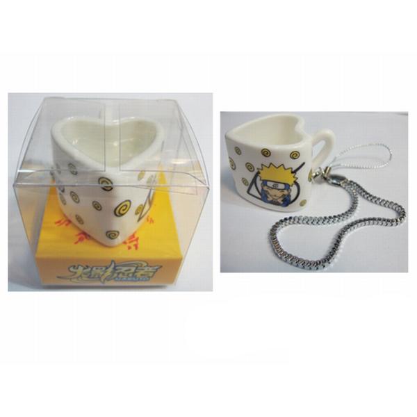 גביע נארוטו שקית תליון בצורת לב קרמיקה