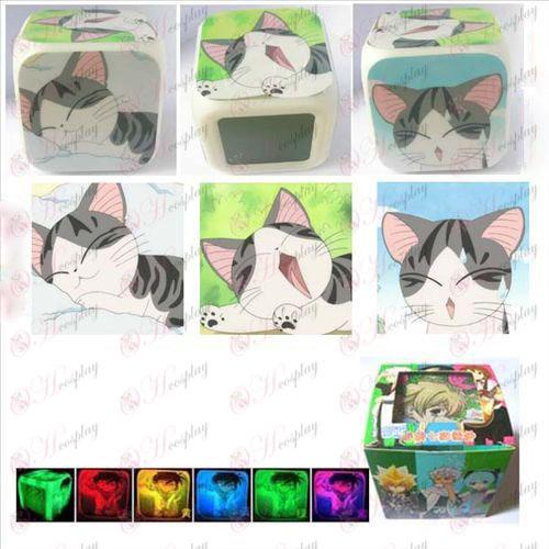 שעון מתוק חתול אבזרים3 משטח צבע צבעוני מעורר