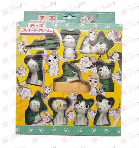 10 בובת אבזרים חתול מתוקה 5.5cm (קופסה)