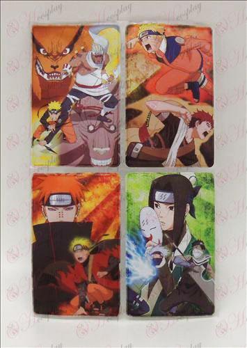 4 PVC Naruto kort klistermærker