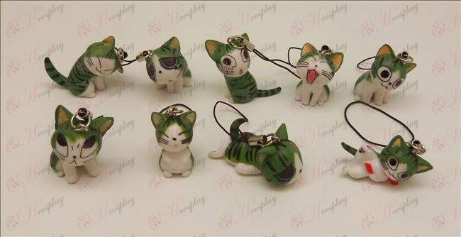 9 Sweet Cat аксесоари Machine Strap (Green)