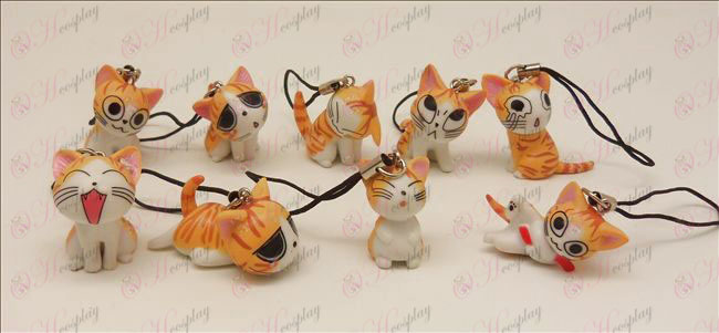 9 Sweet Cat accessoires machine Strap (Orange)