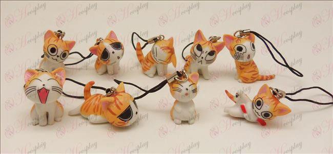 9 אבזרים רצועת מכונת חתול מתוק (אורנג\')