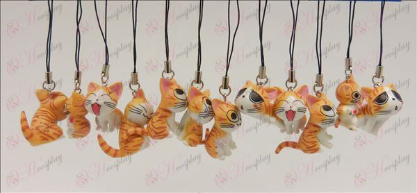 12 Sweet Cat Αξεσουάρ Strap Toy Machine (Orange)