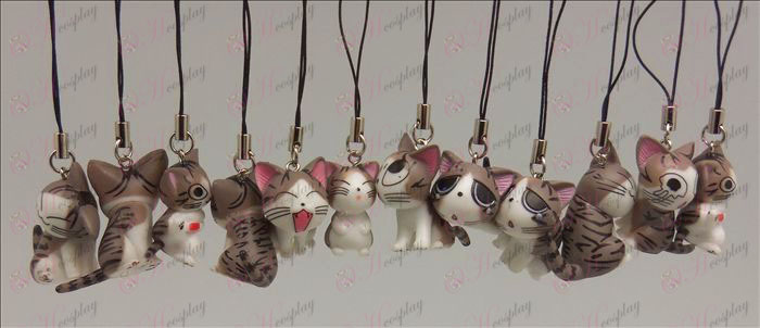 12 Sweet Cat Αξεσουάρ Strap Toy Machine (Grey)