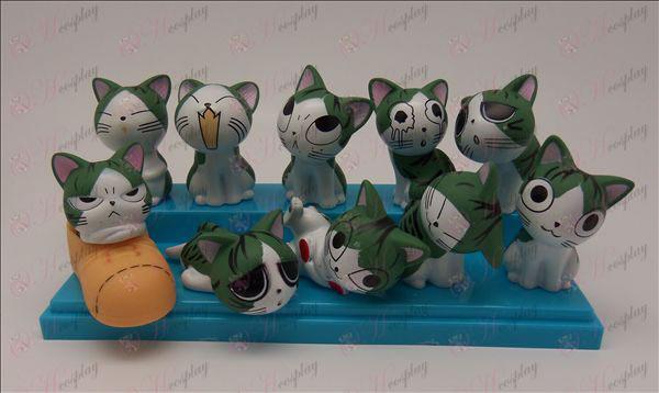 10 Kukurica Cat Príslušenstvo bábika (6 cm)