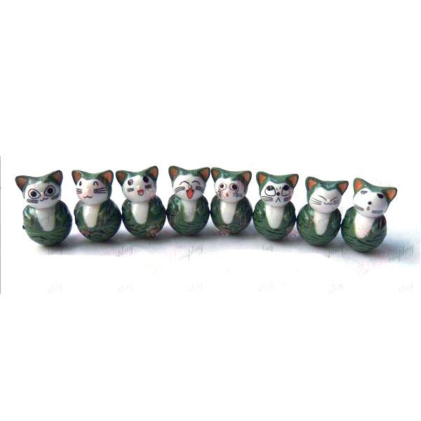 שמונה כוס אבזרים חתול מתוקה
