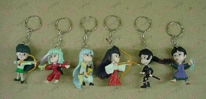 6 InuYasha Accessories Keychains