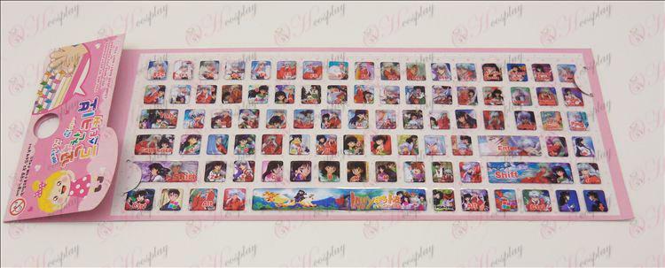 ملصقات لوحة المفاتيح PVC (اكسسوارات إينوياشا)