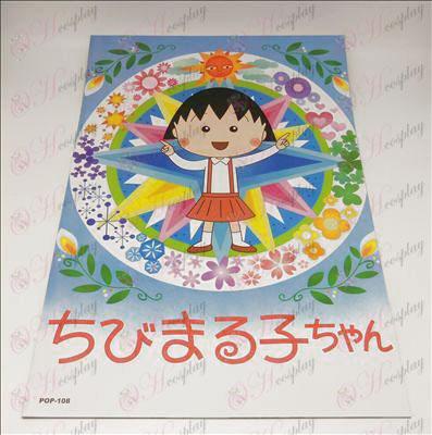 42 * 29cmChibi כרזות בולטות Maruko צ\'אן אבזרים (8 / סט)