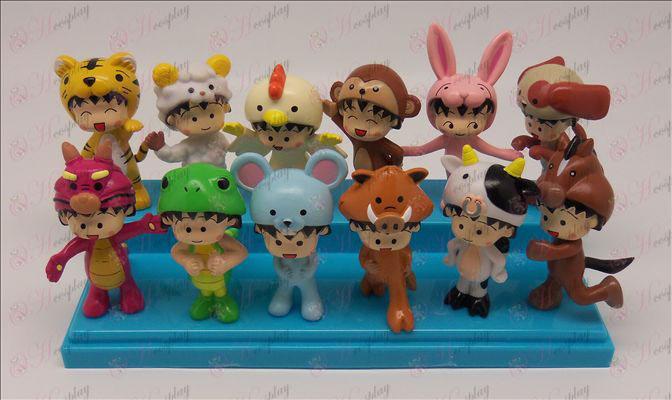 12 Doll Zodiaco (Chibi Maruko Chan Accessori) 6-7,5 centimetri