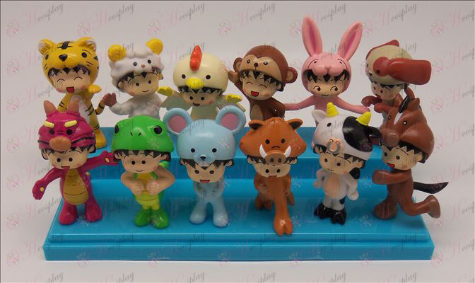 12 Zodiac Doll (Chibi Maruko Chan Tilbehør) 6-7.5cm