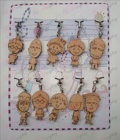 Chibi Maruko Chan Accessories Wood Carving Strap (10 / set)