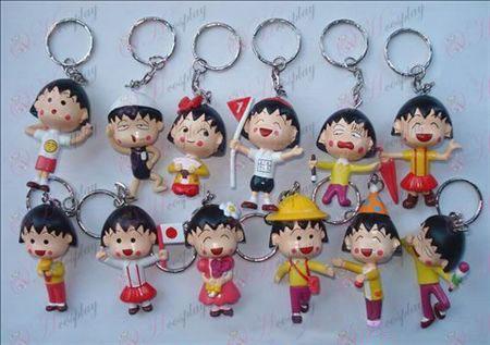 12 Chibi Maruko Chan Accessories Doll Keychain