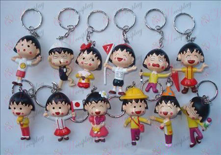 12 Chibi Maruko Chan Tilbehør Doll nøglering