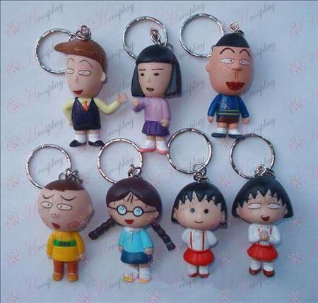 7 paragraph Chibi Maruko Chan Accessories Doll Keychain